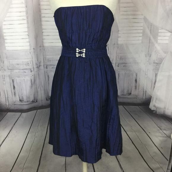 Betsey Johnson Dresses & Skirts - Betsy Johnson Dress Taffeta Blue Strapless 8